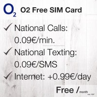 O2 free sim card