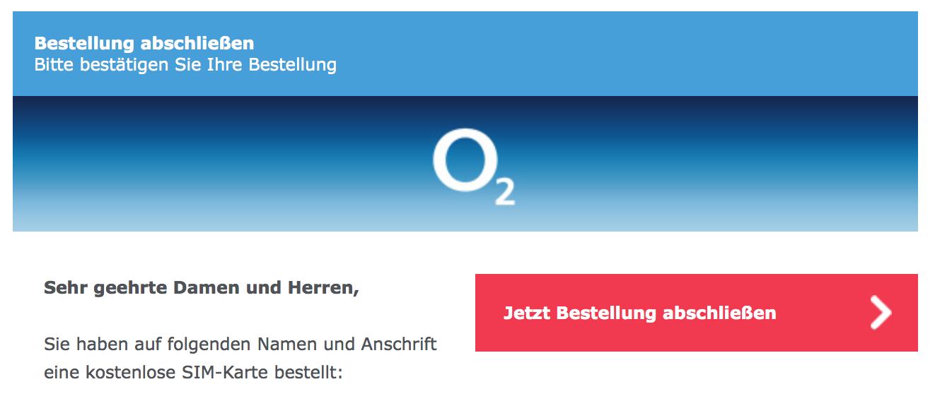 Kostenlose Sim Karte O2.O2 Email Confirm Order My German Phone